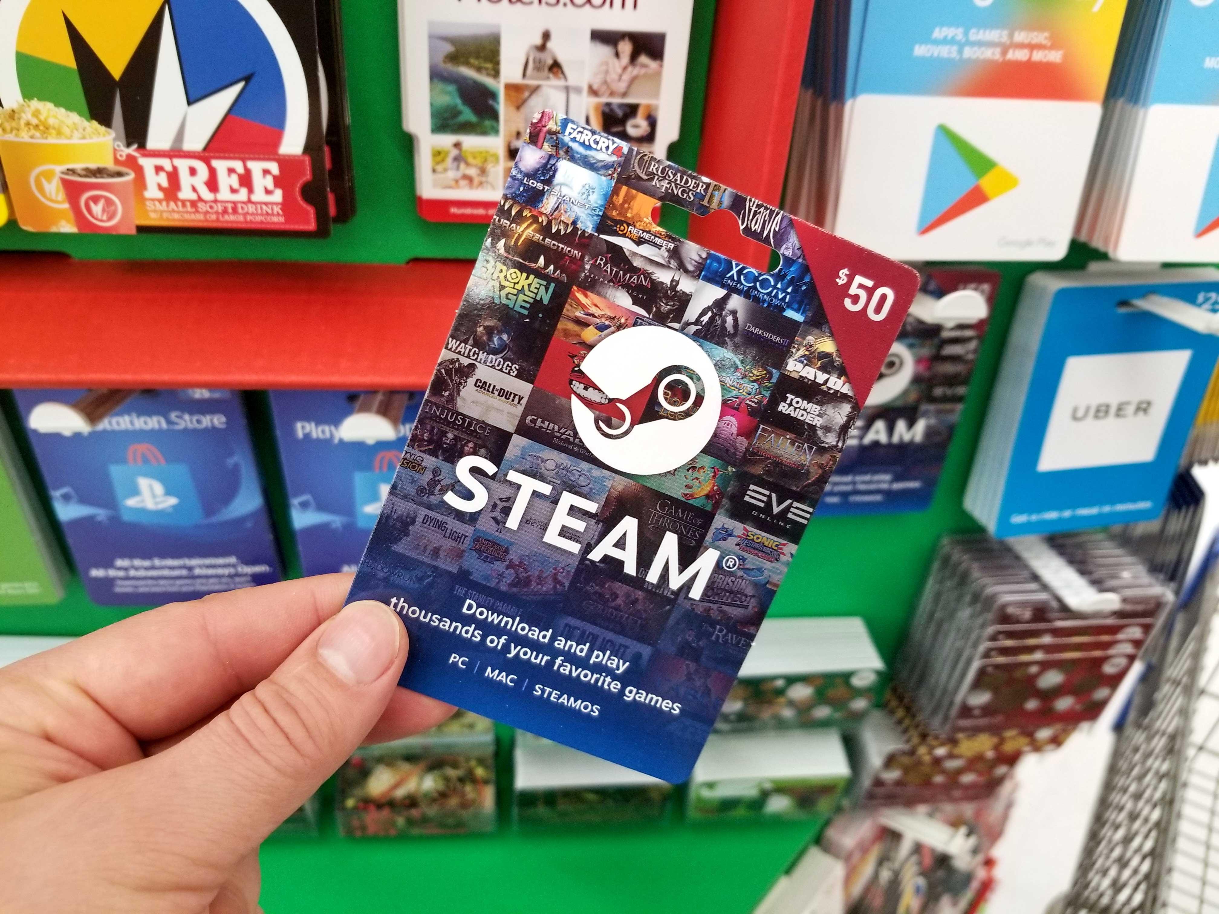 steam-gift-card, V Games For U, vgamesforu.com